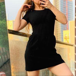Theory Mini Little black dress Classy puff sleeves